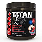 TITAN BCAA+: Branched Chain Amino Acids enhanced with glutamine- Aids in Muscle Recovery, Increase Muscle Protein Synthesis, and Improve Lean Body Mass-Perfect 2:1:1 BCAA ratio- 50 ser (Freedom Punch)