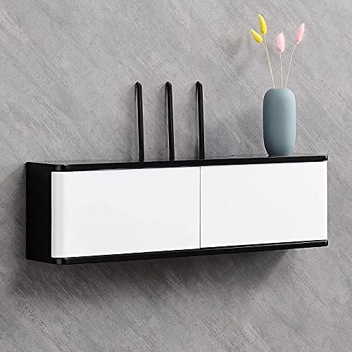 PPOIU Mobile TV sospeso, mensola TV Mobile con Porta Console multimediale TV Mensole a Parete per decoder Via Cavo Router Lettori Dvd/E / 60x20x13cm