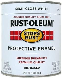 Rust-Oleum 7797502 Stops Rust, 32 oz. Quart, Semi Gloss White, Can