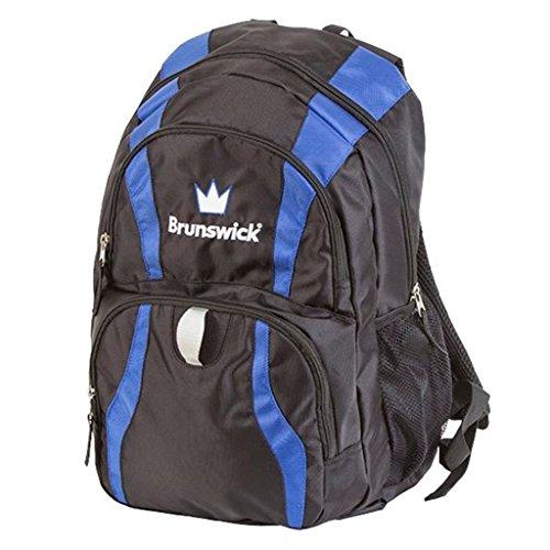 Brunswick Crown Rucksack Bowling Bag, Schwarz/Royal