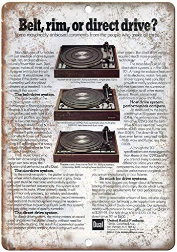 GONGXIAMI SIERTH - Placa giratoria de metal para pared (12 x 8 pulgadas)