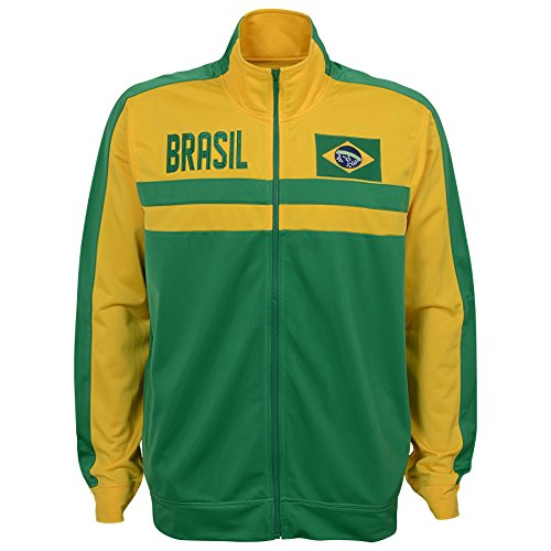 International Soccer Brazil Men's Outerstuff Track Jacket, Team color , XX-Large