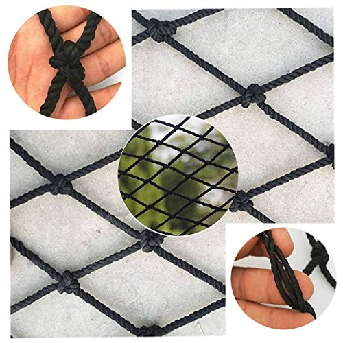 Black Trap Guard Netto Nylon Balkon Patio Safety Anti-vallen Net Plafond Opknoping Kleren Net (Color : Color, Size : 5X5M(16X16FT))