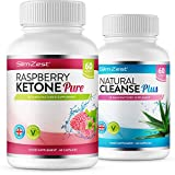 Raspberry Ketone and Colon Cleanse Detox Combo - UK Manufactured High Quality Supplement - Vegetarian & Vegan friendly – Top Selling Raspberry Ketone - Amazing Value Order Today from a Well Known Trusted Brand (60x Raspberry Ketone Pure + 60x Colon Cleans