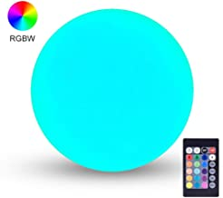 LOFTEK LED Light Ball: 6-inch RGB Lamp with Remote, 16 Colors Changing Cool Mood Lamp, IP68 Waterproof Floating Pool Lights, 5V Fast USB Charging Glow Night Light, Perfect for Nursery or Decor Use
