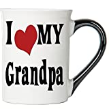 Cottage Creek Coffee Mug, Large I Love My Grandpa Coffee Mug, 18oz Ceramic Grandpa Coffee Cup, Grandpa Mug [White]