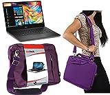Navitech Lila Prime Hülle/Cover Trage Tasche für das Dell 14 Rugged Extreme/Dell Alienware 13 R2