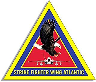 American Vinyl Triangle Strike Fighter Wing Atlantic Sticker (Military Army air)