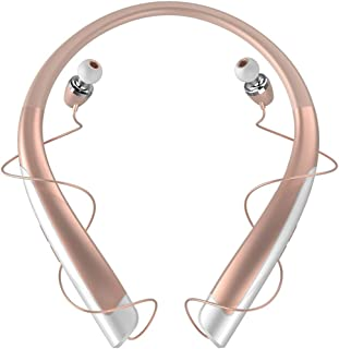 GLJJQMY Sports Bluetooth Headset Running Halter Bluetooth Headphones Bluetooth Earphone (Color : Gold)
