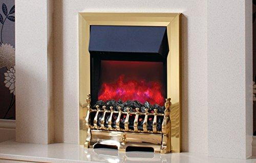 Be Modern Camberley Brass Inset Electric Fire Deep Trim