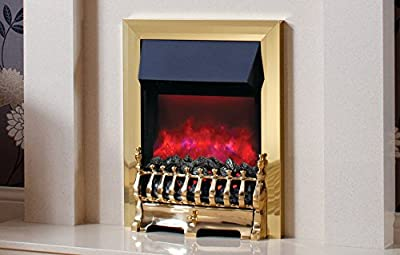 Be Modern Camberley Brass Inset Electric Fire Deep Trim