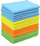 Product Image of the 20 Pack - SimpleHouseware Microfiber Cleaning Cloth, 4 Colors
