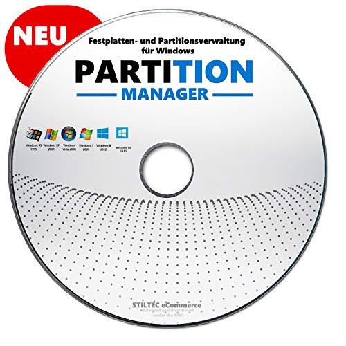 Partition Profi- Festplatte HDD Partition>Löschen> Bearbeiten>Verwalten Windows 10-8-7-Vista / 32 & 64 bit CD DVD
