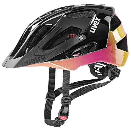 uvex Unisex– Erwachsene Quatro Fahrradhelm, Future Black, 52-57 cm