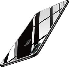 TheGiftKart Luxurious Glass Back Case Cover for Samsung Galaxy M21 / M30s | Soft Edge Protective TPU Bumper | Stunning Design (Black Glass)