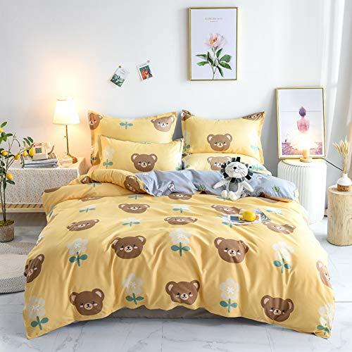 GYHJG Ropa De Cama Aloe Algodón Lijado Cuatro Piezas Agradable para La Piel Pequeño Dormitorio De Estudiantes Fresco De Tres Piezas 2.0 Cama