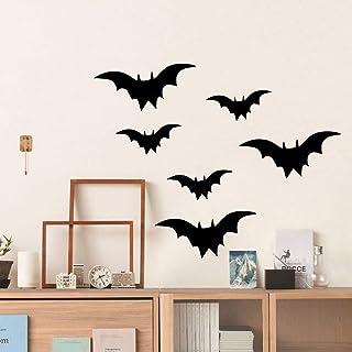 TZOU Bat Sticker, Halloween Party Supplies Waterproof Scary Bat Wall Decal DIY Home Window Decoration, Removable Bat Stick...