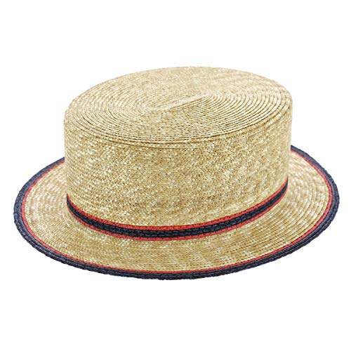 Tesi Grezzo Hut für Canotier, Strohhalm, naturfarben Gr. 59 cm, beige