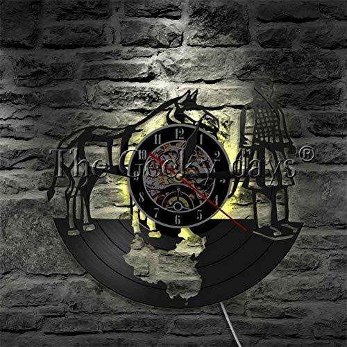 CHANGWW 1 Qin Dynastie Kriegspferd Soldat Antike LED Souvenir Soldat und Terrakotta Schallplatte Uhr Dekoration Geschenk