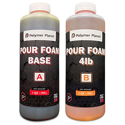 Polymer Planet Liquid Urethane - 2-Part Closed Cell Rigid Pour Foam - 4 Lb Density - Fast-Acting Formula - Great for Boat Buoyancy, Flotation, Filling, Soundproofing, & Insulation- 1/2 Gallon Kit
