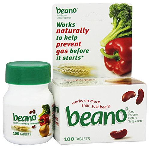 Beano Beano Food Enzyme Dietary Supplement Tablets, 100 Tabs