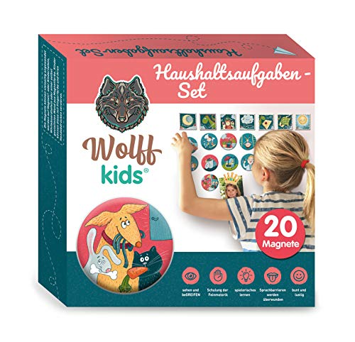 Wolff kids Wochenplan Kinder,Haushaltsaufgaben,Belohnungstafel Kinder,Belohnungssystem Kinder,Kinder Kalender,für Kreidetafel Kinder, Kindererziehung