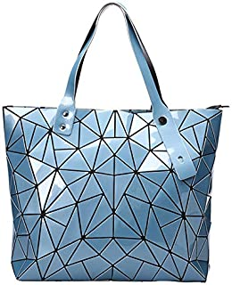 Geometric Large Tote Bag Purse Lightweight Top Handle Satchel Travel Beach Bag