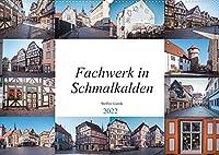 Fachwerk in Schmalkalden (Wandkalender 2022 DIN A2 quer): Schmalkalden ist eine Fachwerk und Hochschulstadt im Westen Thueringens. (Monatskalender, 14 Seiten )