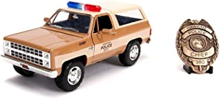 Chevy Blazer with Police Badge, Stranger Things- Hopper's Police Car - Jada 31111 - 1/24 Scale Diecast Model Toy Car
