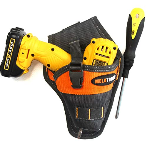 Melo Tough Impact Driver Holster Drill Holster for Tools and Drill bits Orange Color