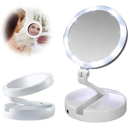 Salle de Bains Yanding Miroir Grossissant 3X grossi /Écran Tactile Miroir Maquillage Lumineux LED Vanit/é Miroir Prise USB Miroir Cosm/étique pour Rasage,Voyage