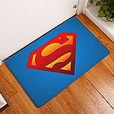 Yanqhua Felpudo Superhéroe Imprimir Felpudo Anti Slip Superman Batman patrón Decorativo Alfombra Baño Cocina Decoración Alfombra de Entrada Mat Cubierta (Color : D2132 9, Size : 40cmx60cm)