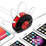 BESTEK 30W Caricabatterie Universali da Tavolo Portabile 3 Porte USB e 1 Tipo-C Adattatore da Viaggio per iPhone iPad Tablet Smartphone
