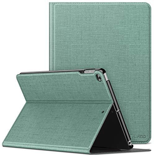INFILAND Funda Case para iPad 9.7 2018/2017 & iPad Air 2/Air, Super Delgada Soporte Frontal Cover con Auto Reposo/Activación para iPad 9,7 (6/5 Generation) & iPad Air 2/Air, Menta Verde