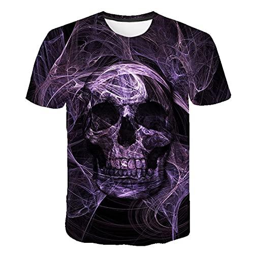 EMPERSTAR Esqueleto Disfraz de Halloween Camiseta de Calavera Traje para Padres e Hijos XXL