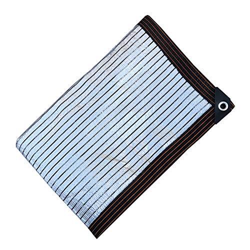 WXQIANG 75% Bloqueador solar pantalla de tela reflectante Aluminet, planta de exterior Toldo Toldo, frescos corredores de Inicio del patio trasero de jardinería Pergola Protección solar, aislamiento t
