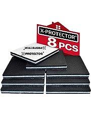 Meubelpads X-PROTECTOR - Antislippads - Premium 8 stuks 100 mm - Vloerbeschermers - Rubberen voetjes voor meubelpoten - Ideale vloerbeschermers om het meubilair op zijn plaats te houden. Stop uw meubels!