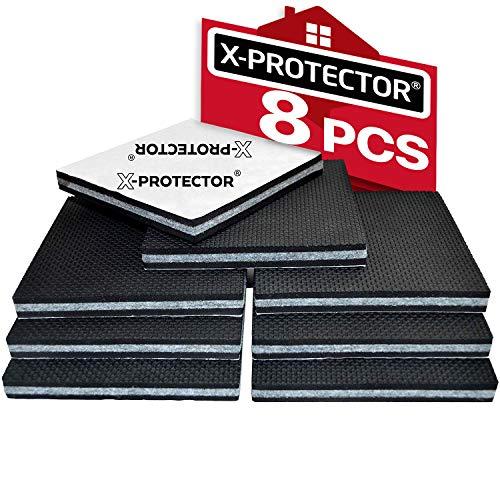 Almohadillas antideslizantes X-PROTECTOR - Premium protectores de piso - 8 piezas 100mm patas antideslizantes - Pies antideslizantes - Patas de goma de alta calidad - Mantener en su lugar los muebles