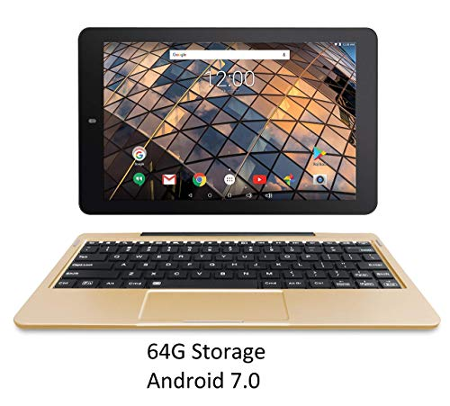 RCA Atlas 10 Pro-S 10 inches Quad Core Tablet with Keyboard Touchscreen WiFi 64G Storage Android 7.0 (Gold) (Renewed)