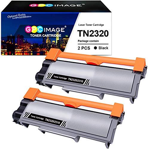 GPC Image TN2320 TN-2320 Toner Kompatible für Brother TN2310 TN-2310 für Brother MFC-L2700DW HL-L2340DW DCP-L2520DW MFC-L2700DN HL-L2300D MFC-L2720DW DCP-L2500D HL-L2360DN DCP-L2560DW (2 Schwarz)