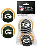 Pets First NFL Green Bay Packers Tennis Balls for Dogs & Cats - 2 Piece Set with Team Logo in Vibrant Team Color