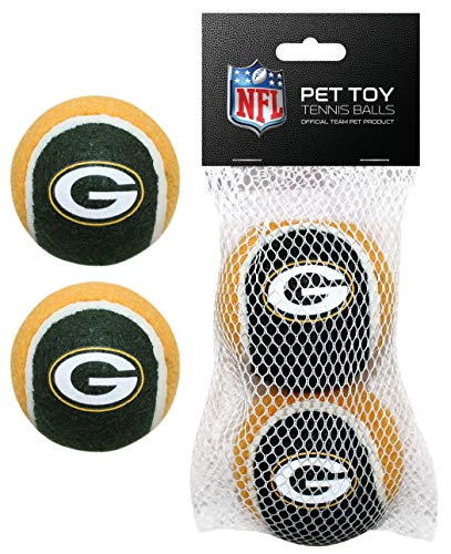 Pets First GBP-3189 NFL Green Bay Packers 2 Tennis Balls Set, Team Color