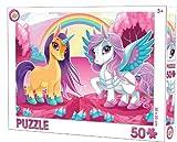 Puzzle de unicornio de 50 piezas, para niños a partir de 3 años, 30 x 20 cm, para pequeños fans de los unicornios.