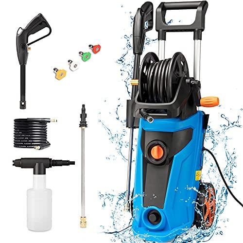 3800PSI Portable Pressure Washer , 2.8GPM Power Electric Pressure Washe,4 in 1 Nozzles Power Washer...