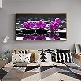 sans Cadre Décor À La Maison Peinture Toile HD Imprimer 1 Orchidée Fleur Affiche Moderne Mur Art Modulaire Image pour Chambre Fond 50x70cm