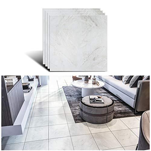 VEELIKE Azulejos autoadhesivos para cuarto de baño, vinilo decorativo para suelo, mármol y pared, resistente al agua, 30 cm x 30 cm, 4 unidades