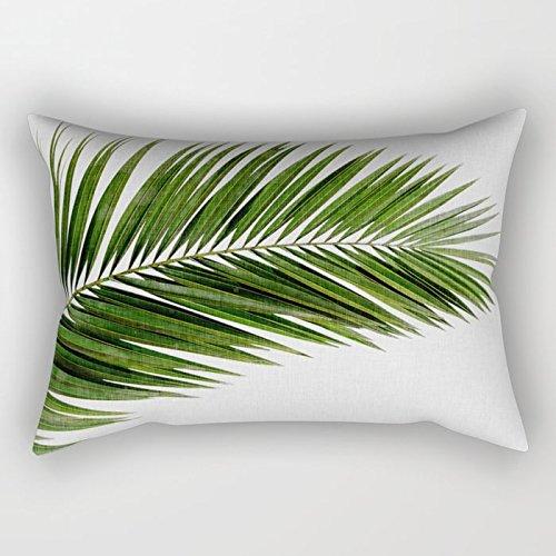 ymot101 - Fundas de cojín rectangulares (40 x 60 cm), diseño de hoja de palma