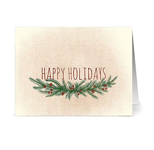 Note Card Cafe Christmas Card Assortment with Red Envelopes | 36 Pack | Warm, Winter Wishes | Blank Inside, Glossy Finish | Set for Holidays, Winter, Gifts, Presents, Secret Santa, Work Parties