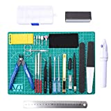 WiMas 26PCS Gundam Herramientas de modelismo, Model Set de Manualidades de Hobby Building para reparación de Modelos básicos