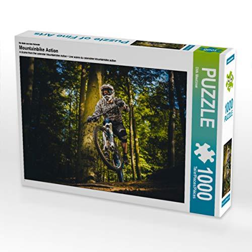 CALVENDO Puzzle Mountainbike Action 1000 Teile Lege-Größe 64 x 48 cm Foto-Puzzle Bild von Dirk Meutzner